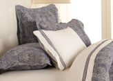 Ethan Allen Washed Linen Paisley Sham, Navy