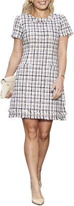 Harper Rose Cap Sleeve Tweed Shift Dress