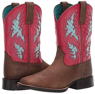 Ariat Cowboy VentTEKtm (Toddler/Little Kid/Big Kid) (Homestead Brown/Hot Pink) Girl's Shoes