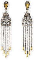 Konstantino Etched Sterling Silver & 18K Gold Tassel Drop Earrings