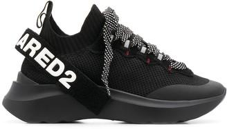 DSQUARED2 Mesh Sport Sock 45mm Platform Trainers
