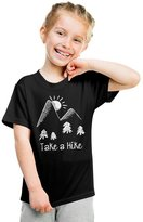 Crazy Dog T-shirts Crazy Dog Tshirts Youth Take A Hike Cute Outdoor Hiking T shirt for Kids -L