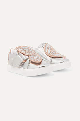 Sophia Webster Kids - Size 21 - 26 Bibi Butterfly Embroidered Mirrored-leather Sneakers