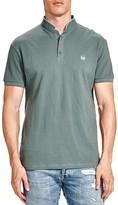 The Kooples Mandarin Collar Pique Slim Fit Polo Shirt