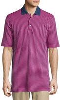 Bobby Jones Short-Sleeve Flag-Stripe Polo Shirt, Fuchsia