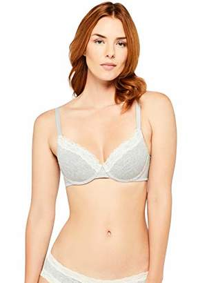 Iris & Lilly Women's Bra in Cotton and Lace