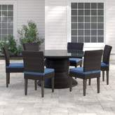 Tegan Sol 72 Outdoor 7 Piece Dining Set with Cushions Sol 72 Outdoor Cushion Color: Ash