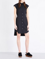 Sacai Pleated-back woven shirt dress