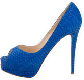 Christian Louboutin Very Prive Embossed Pumps