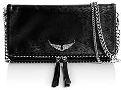 Zadig & Voltaire Rock Studded Leather Shoulder Bag
