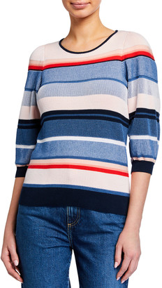 Parker Tucson Knit 3/4-Sleeve Top