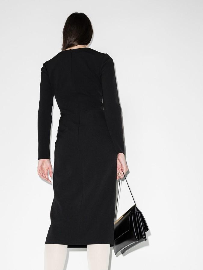 Thumbnail for your product : Supriya Lele Square-Neck Midi Dress