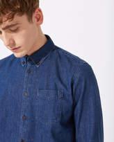 Jigsaw Finlay Denim Shirt Mid Wash