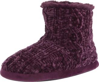 Dearfoams Leah Marled Chenille Knit Bootie