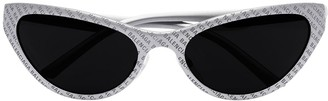 Balenciaga Eyewear curved wrap-around sunglasses