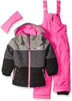 Pink Platinum Toddler Girls' Circle Quilted Better Snowsuit, Grey