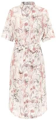 Agnona Floral cotton and silk shirt dress