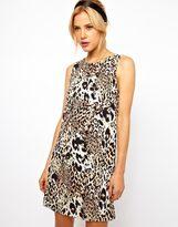 Asos Simple Shift Dress in Animal Print