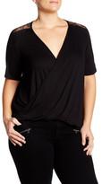 Hip Lace Shoulder Twist Shirt (Plus Size)