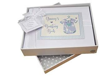 White Cotton Cards Gran's Boasting Book Photo Album, Blue Vest (BV5S)