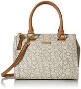Calvin Klein Signature Top-Zip Satchel Bag