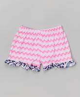 Flap Happy Wild Waves Ruffle Shorts - Infant Toddler & Girls