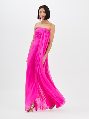 Oscar de la Renta Draped Column Gown