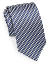 Saint Laurent Plaid Silk Tie