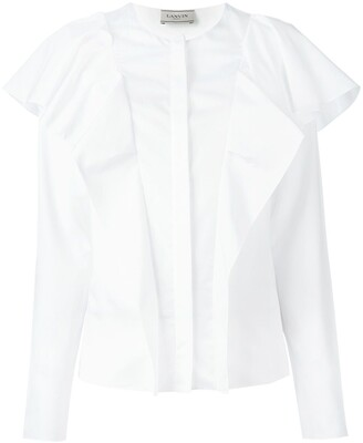 Lanvin Long Sleeved Ruffle Blouse