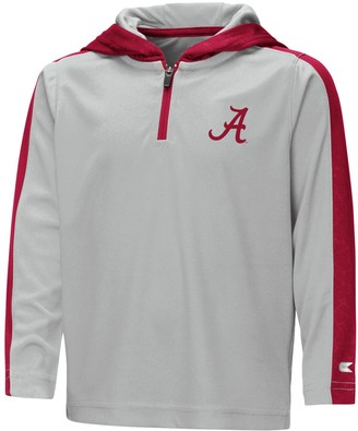 Colosseum Youth Gray Alabama Crimson Tide Heliskiing Hooded Quarter-Zip Windshirt Jacket