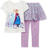 Disney Collection Frozen Tee and Skeggings - Girls 2-10