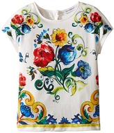 Dolce & Gabbana Escape Maiolica Bouquet T-Shirt (Toddler/Little Kids)