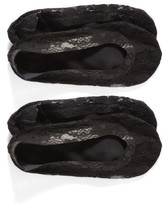 Nordstrom Women's 2-Pack Lace Liner Socks