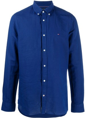 Tommy Hilfiger Button-Up Embroidered Logo Shirt