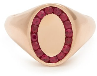 Jessica Biales - Ruby & Pink 18kt Gold Ring - Red