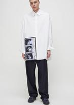 Raf Simons white self portrait oversized shirt