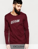 Exclusive To Asos G-star T-shirt Mikel Logo Print