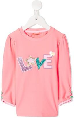 Sunuva Cropped Sleeve Love Top