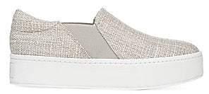 Vince Women's Warren Slip-On Platform Linen Sneakers