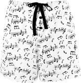 Leisureland Women's 100% Cotton Knit Pajama Sleepwear Lounge Boxer Shorts Music Notes