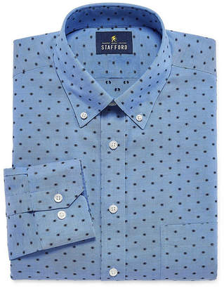STAFFORD Stafford Executive Non-Iron Cotton Pinpoint Oxford Long-Sleeve Dress Shirt