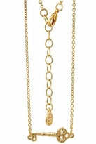 House Of Harlow Mini Key Necklace in Gold