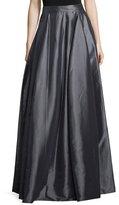 Halston High-Waist Full Maxi Skirt, Charcoal