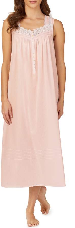 Eileen West Clip Dot Woven Nightgown