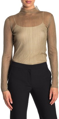 Vince Metallic Rib Knit Shirt