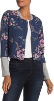 BCBGeneration Floral Print Bomber Jacket