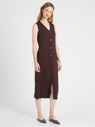 Banana Republic Petite Knit Button-Down Dress