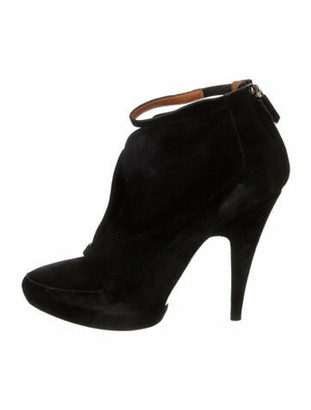Givenchy Suede Cutout Accent Boots Black