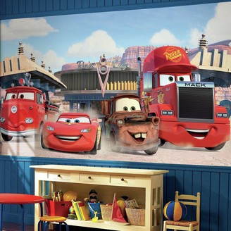 York Wall Coverings Disney / Pixar Cars Friends to the Finish Removable Wallpaper Mural