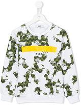 MSGM printed sweatshirt - kids - Cotton - 4 yrs